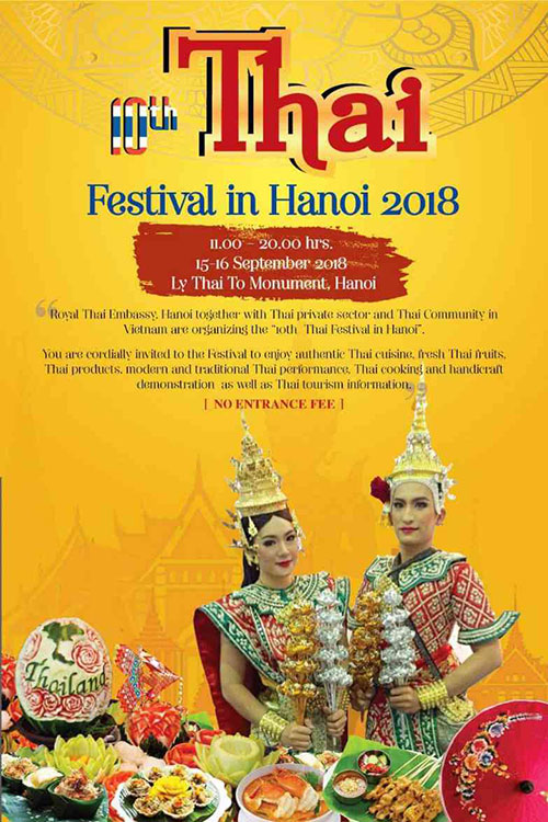 10th Thailand Festival in Hanoi 2018