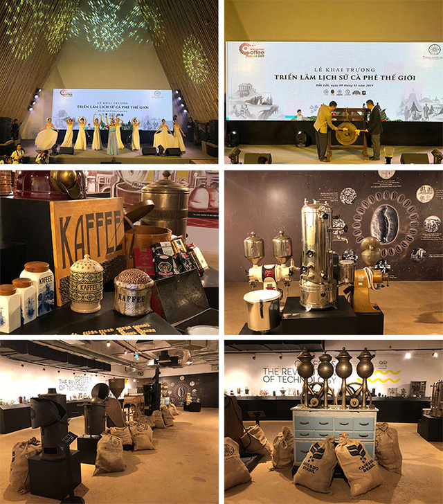 """The exhibition entitled """"The History of Coffee in the World"""" was opened at Trung Nguyen Legend's 45-ha The World of Coffee Museum"""