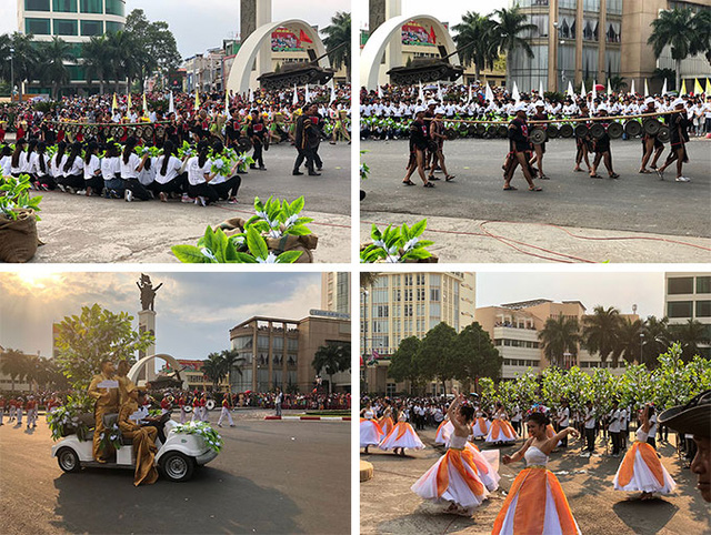 The colorful and lively street festival was attended by thousands in the center of Buon Ma Thuot