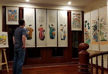 Floating Exhibition of the Lost Hang Trong Folk Paintings Aboard