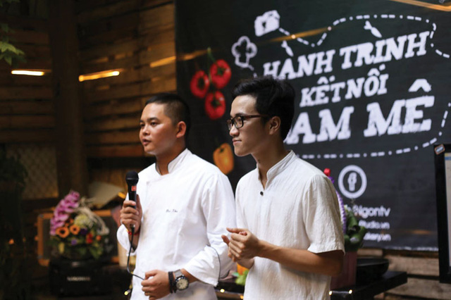 The opening ceremony for the Ngon project, with Ngon Studio, Ngontv - the online gastronomy channel - and Ngon Bakery, founded by chef Nguyen Van Khu and photographer Bui Hong Phuc, on 18 September in Hanoi.